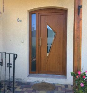 Porte en PVC avec aspect bois Xylotech